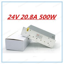 Promotion ! 24V 20.8A 500W  Small Volume Single Output Switching power supply for LED Strip light