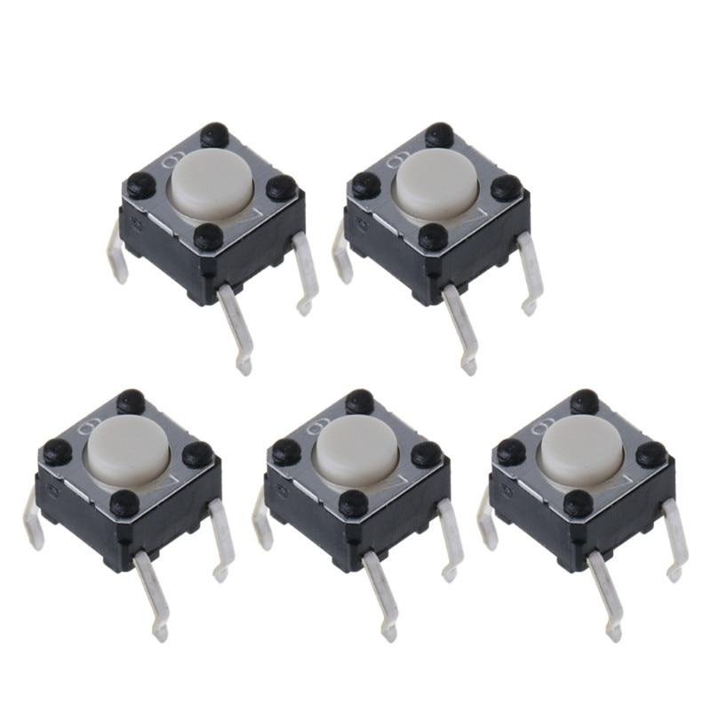 5Pcs Mouse Micro Switch For Logitech M185 M215 G300 G402 G602 M570 6x6x4.3mm