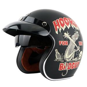 Image 2 - Мотоциклетный шлем TORC T57, винтажный мотоциклетный шлем с открытым лицом 3/4, внутренний козырек, реактивный Ретро шлем, мотоциклетный шлем ECE