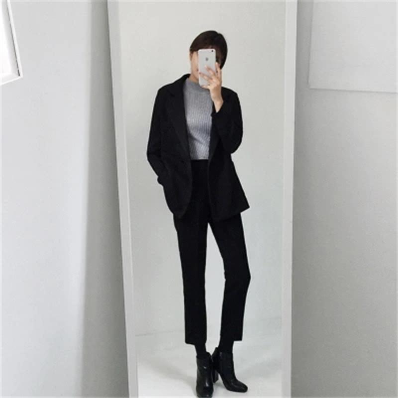 Due 3xl Temperamento Grandi 1 Xs Formato Primavera Vestito Allentato Nuova Modo Donne Femminile Nove Di Pantaloni Rivestimento Casuale Del Piccolo Dimensioni HwzPqZ