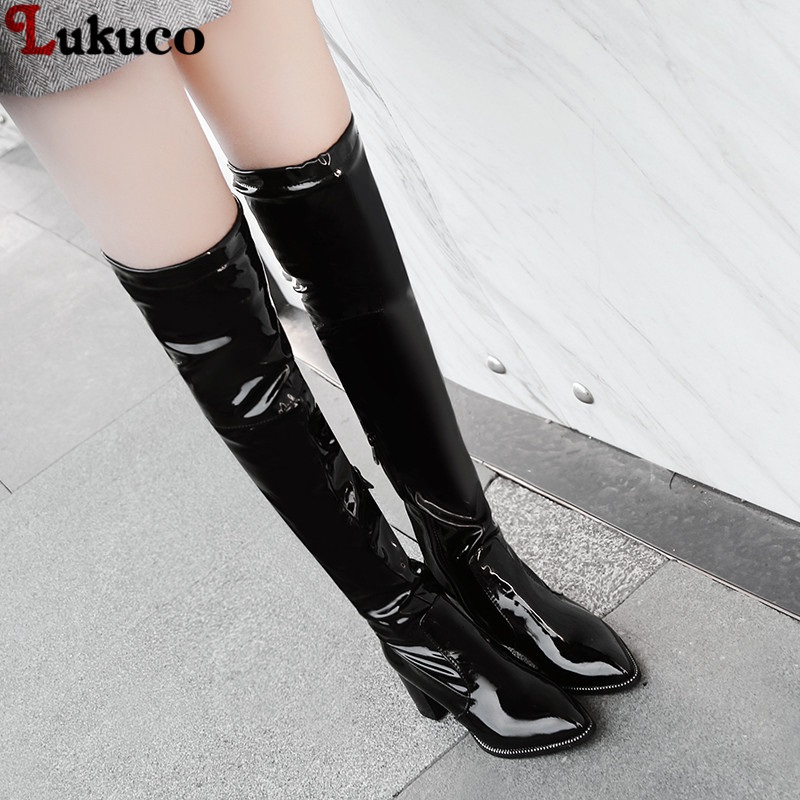 Lukuco brand new women shoes woman boots large size 34-48 autumn over the knee boots thin high heels shoes sexy party boot new women shoes woman boots large size 33 43 autumn over the knee boots thin high heels shoes sexy party boots