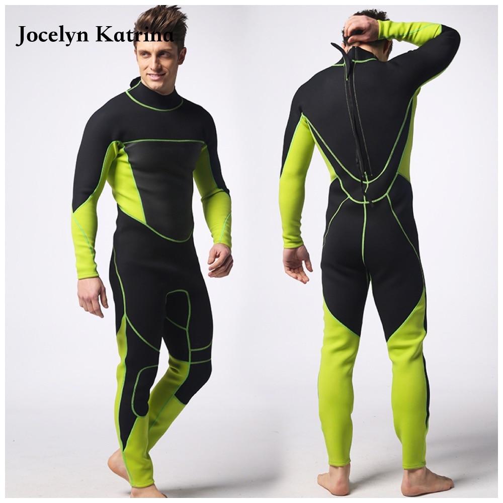 Jocelyn Katrina 2017 Men 3mm neoprene wetsuit winter suit men scuba diving suit one piece professional swimwear