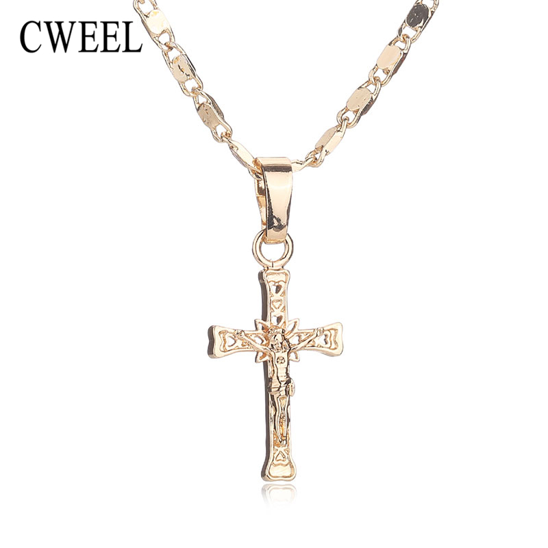 CWEEL Trendy New Gold Plated Jesus Necklace For Women  : CWEEL Trendy New Gold Plated Jesus Necklace For Women Jewelry Men Party Cross Pendant Long Beads from sites.google.com size 800 x 800 jpeg 107kB