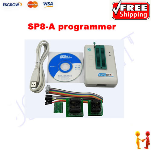 ФОТО Free shipping SP8-A high speed usb programmer, bios programmer