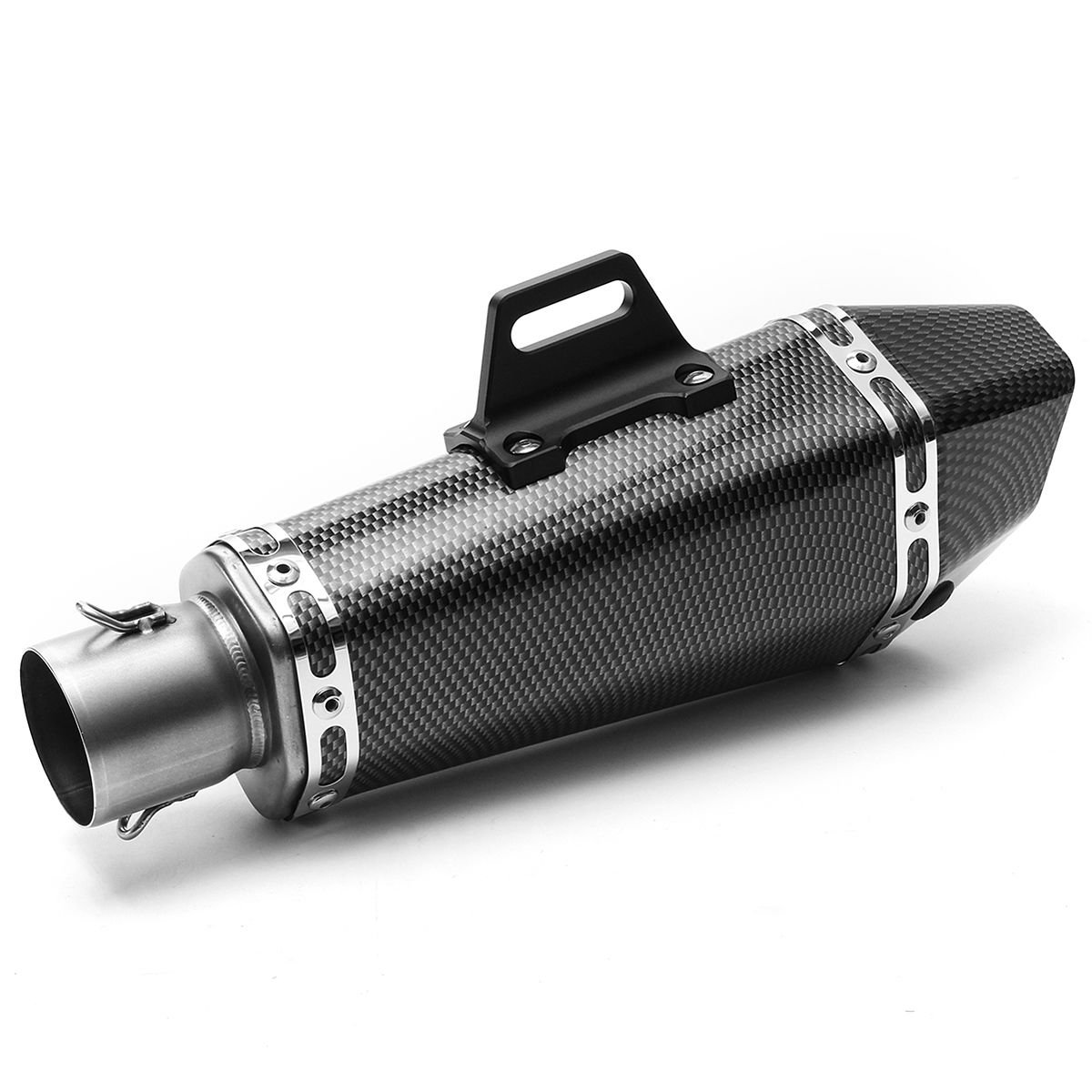 Mayitr 36-51mm Motorcycle Aluminum Stainless Steel Pipe Exhaust Muffler Tip Pipe Durable for Yamaha YZF R1 stylish stainless steel car exhaust pipe muffler tip