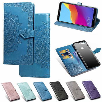 Para Huawei Honor 7C Y3 Y5 Y6 Y7 2018 Y9 9 Lite caso cuero Flip de 3D funda con mandala de flor para P20 P30 Pro amigo 20 Lite funda