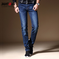 jantour Men Jeans Business Casual Straight Slim Fit Blue gray Jeans Stretch Denim Pants Trousers Classic Cowboys Young Man Jean