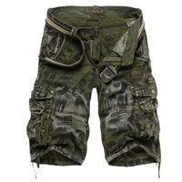 2018 летние новые большие размеры 29-40 свободные мужские военные карго шорты армейские камуфляжные шорты