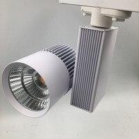 LED Luz Pista 30 W COB Light Rail Holofotes Substituir 300 W halogênio Lâmpada 110V220V Boutiques Bar Luzes de teto iluminação Da Arte 2 fio