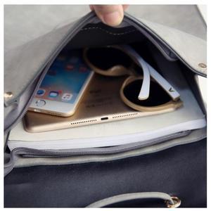 Image 4 - 1 piece Pu Leather bandage Tassel Square Weave Women Backpack School bag for teenager Girls Female