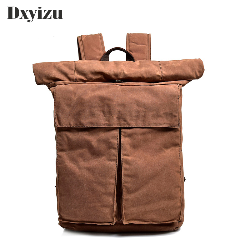 2019 European and American Retro Mens Bag Backpack Leisure Canvas Large Capacity Fold Outdoor Travel Trend Fashionable Personal2019 European and American Retro Mens Bag Backpack Leisure Canvas Large Capacity Fold Outdoor Travel Trend Fashionable Personal