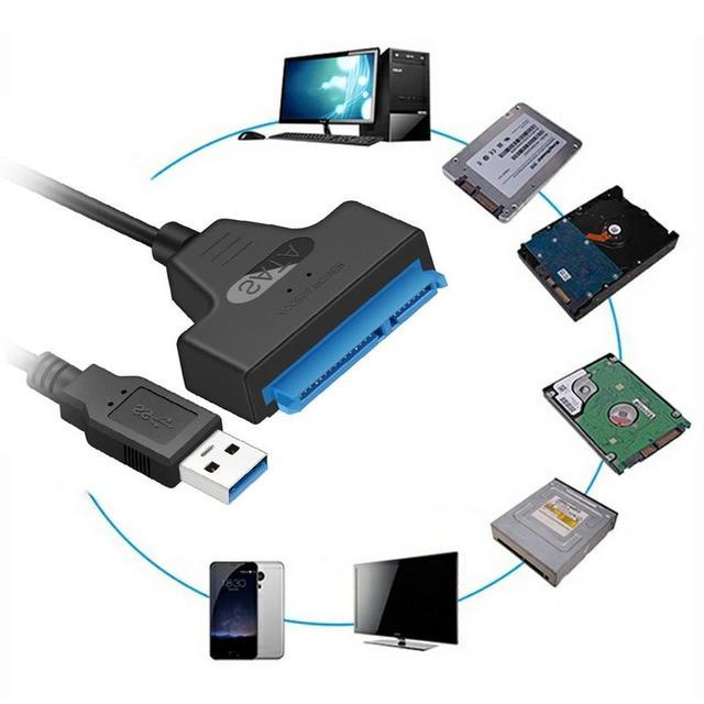 USB 3.0 SATA3 III ケーブルハードドライブアダプタ 2.5 インチ SSD & HDD サポート 6 5gbps のサポートまで UASP 20cm インストールコンピュータ