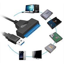 Usb 3.0 sata3 iii 하드 드라이브 어댑터 용 케이블 2.5 인치 ssd 및 hdd 지원 최대 6 gbps 지원 UASP 20cm 설치 컴퓨터