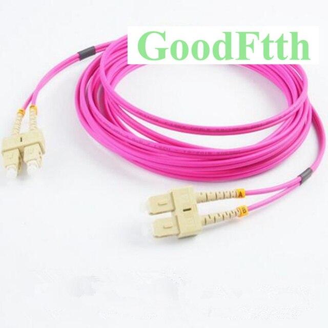 Fiber Optik Yama Kablosu bağlantı kablosu SC SC Çok Modlu OM4 Dubleks GoodFtth 20 100 m