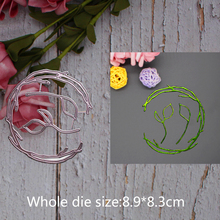 hollow out lace cricle grass Metal steel frames Cutting Dies DIY Scrap booking Photo Album Embossing paper Cards8.9*8.3cm