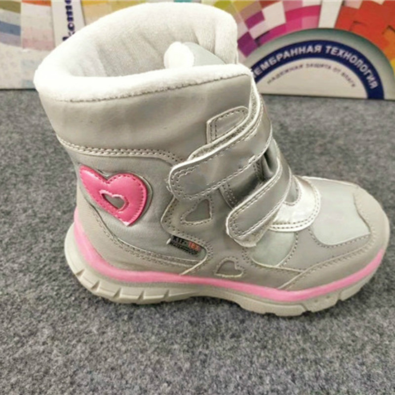 Mioigee 2017 Winter new heart snow boots for girls cute anti-wet anti-slip shoes princess winter warm rain shoe girl rubber boot babyfeet new winter warm boots newborn baby boys girls cute shoes infant toddler soft sole anti slip snow booties size3 5 11