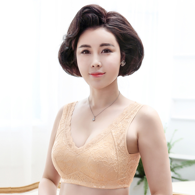 c3de8f0c1f Lady After Surgery Bras Women Breast Cancer Push Up Lace Lingerie Girls  Strapless Bra Bralette Push Up Pocket Bra D-1050