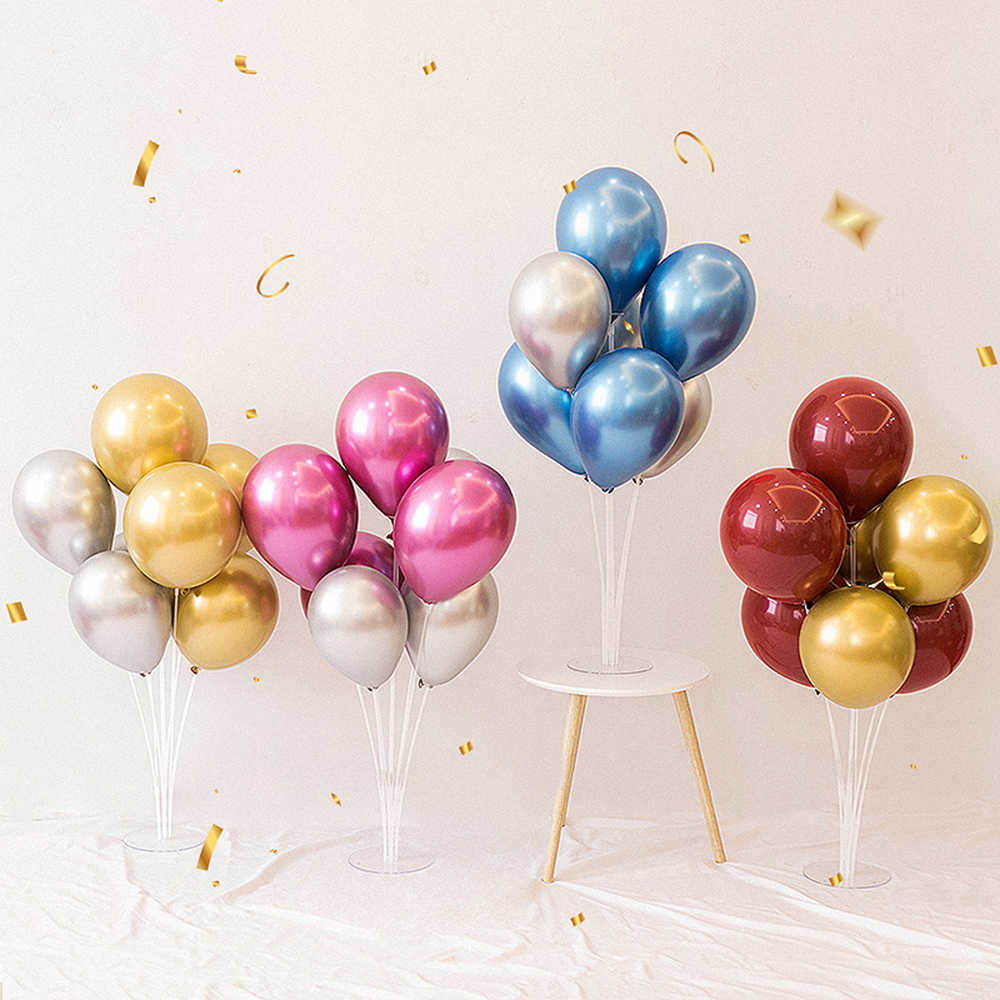 B 7PCS/Set Balloons Stand Stick Plastic Balloon Supporting Rod Balloon Supplies Kids Birthday Party Wedding Decoration Supplies