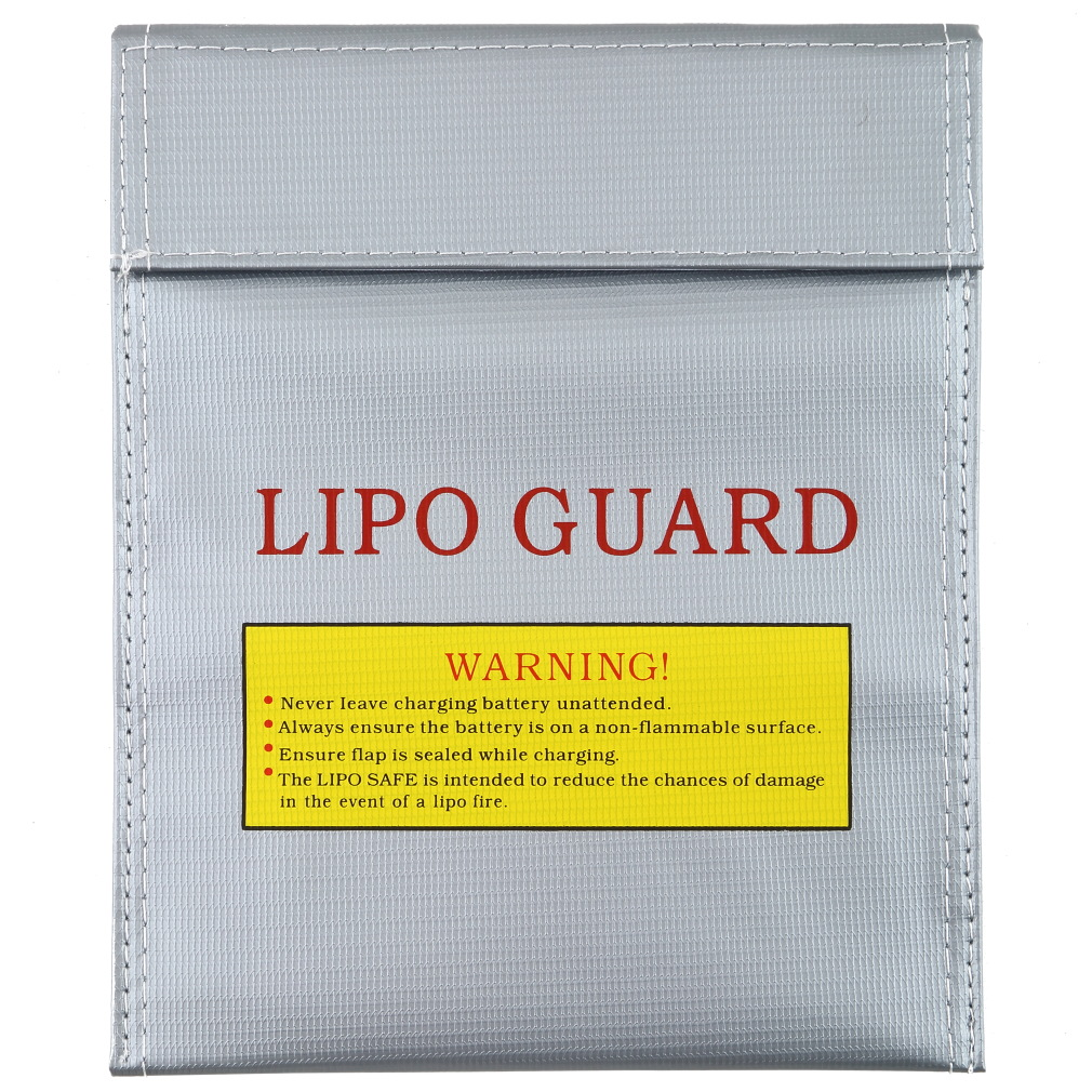1Pcs Fireproof RC LiPo Li-Po Battery Fireproof Safety Guard Safe Bag Charging Sack Battery Safety Guard Silver Two Size Hot!