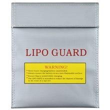 1 шт., пожаробезопасный RC LiPo Li-Po аккумулятор, безопасная сумка для зарядки батареи, Серебряная Защита, два размера, лидер продаж!