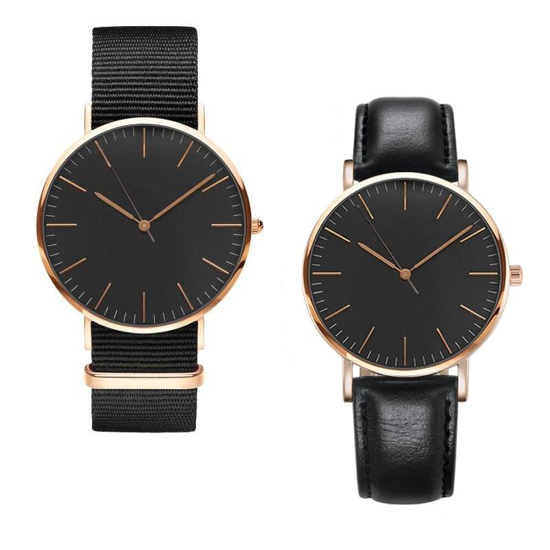 Nueva moda 18 MM mujeres cinturón de nylon reloj de cuero de marca - Relojes para mujeres