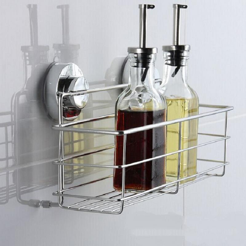 Sucker Storage Rack For Shampoo Shower Toilet Wall Holder Drain Bath Suction Cup Basket Shelf Corner Kitchen Bathroom Rack image