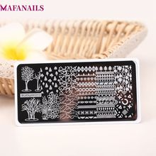 1Pc ZJOY Series Stainless Nail Stamping Template Plates Tree/ Animal Pattern Art Image Stamp With Backplane ZJOY13##