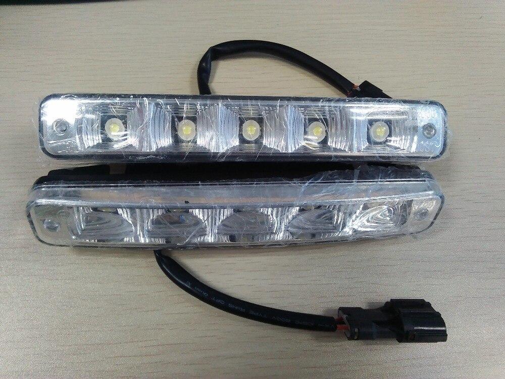 1 set 12v car drl led car daytime running light led headlights driving safety auto lamp daylight. Black Bedroom Furniture Sets. Home Design Ideas