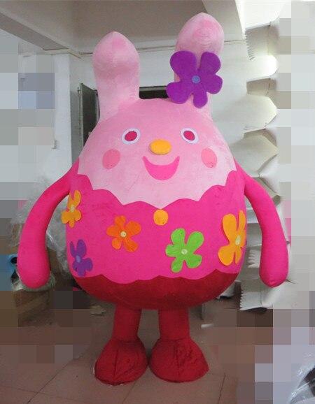 Dernière haute qualité adulte belle rose poupée mascotte déguisements costumes Halloween bande dessinée fête costumes vacances vêtements spéciaux