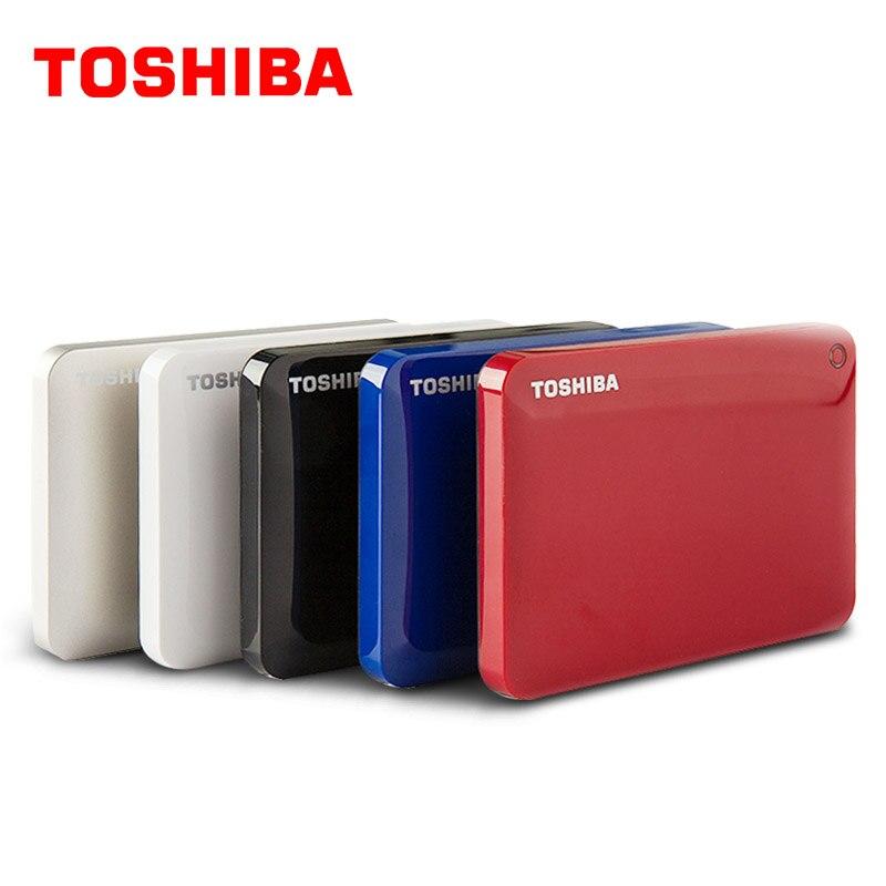 """東芝ギガバイト 2 テラバイト外部ハードドライブディスク 1000 HD 1000 ギガバイト HDD ポータブル CANVIO V8 USB 3.0 SATA3 2.5 """"スリム 100% オリジナル新  グループ上の パソコン & オフィス からの 外部HDD の中 2"""