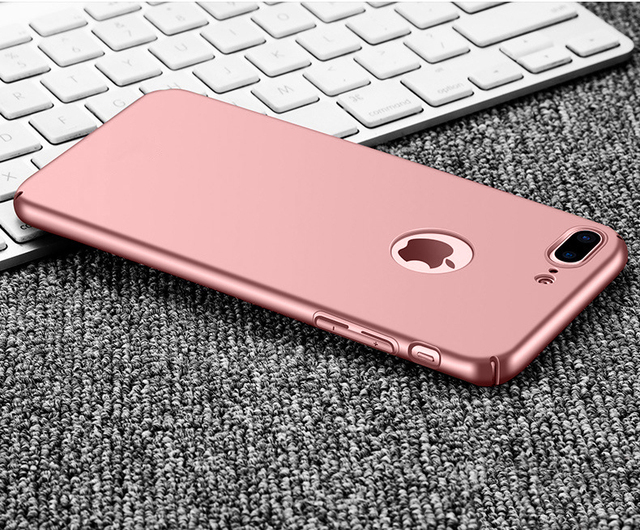 the latest 50606 4bf99 US $3.19 20% OFF|Rose Gold Simple Matte Case For iPhone 6 5s 5 SE 6s 7 8 10  X Hard Plastic Phone Cases Full Cover For iPhone6 7 8 Plus Coque Capa-in ...