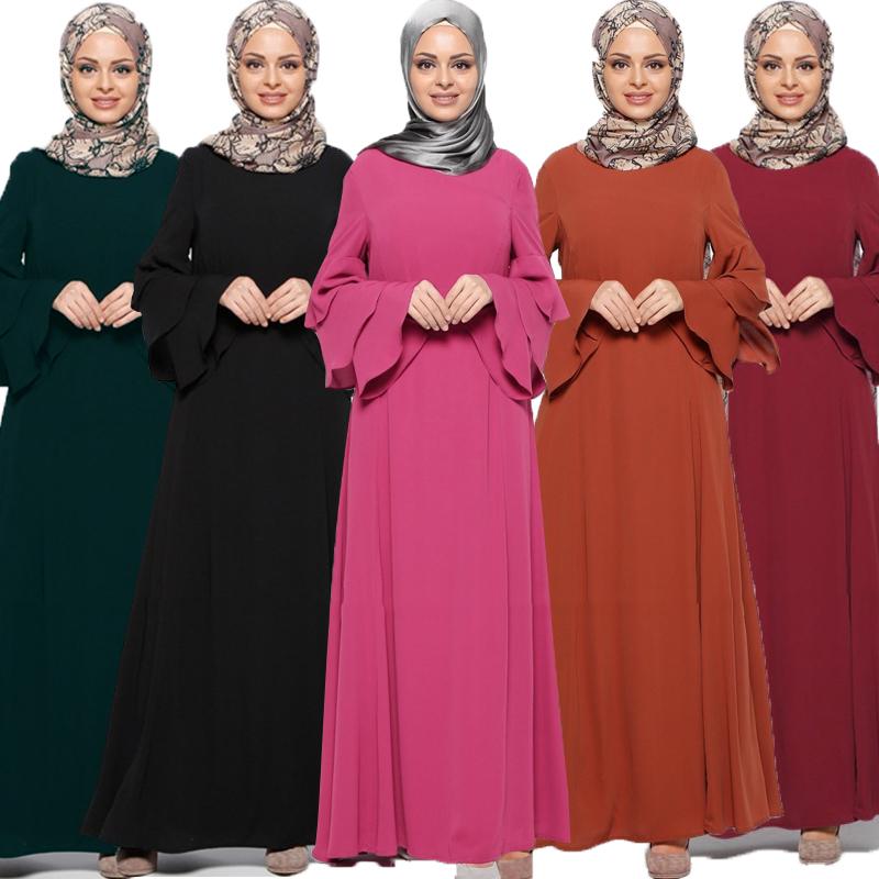 Модное мусульманское платье с длинным рукавом женский халат