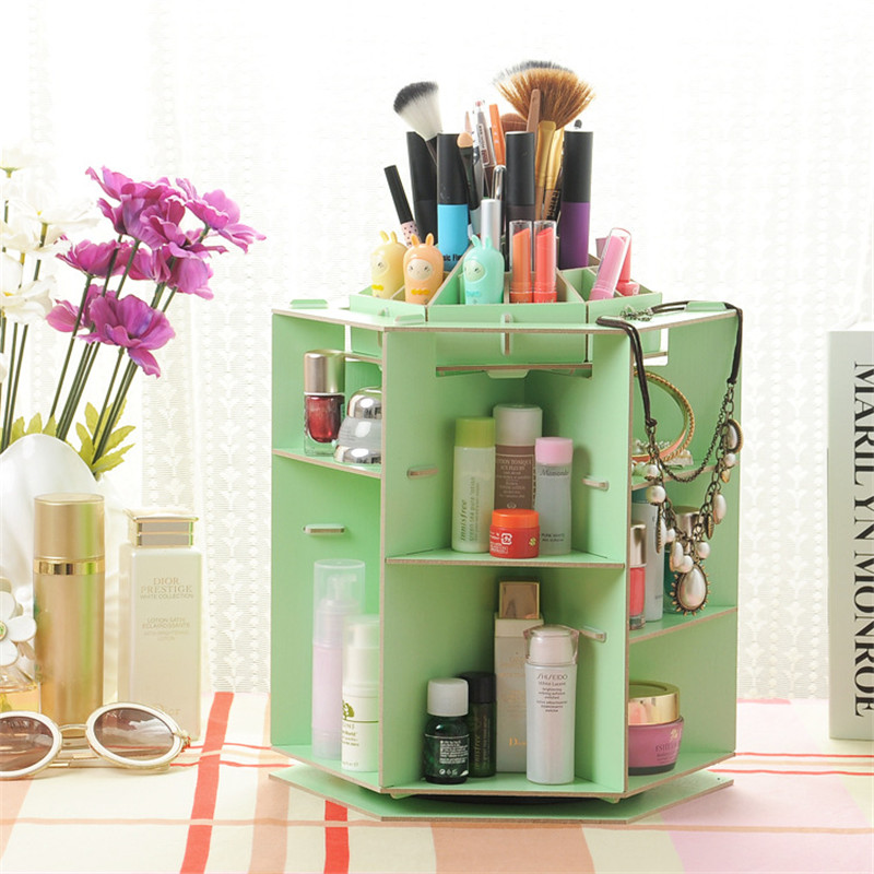 Multifunctional Rotating Makeup Organizer for Cosmetics Desk Accessories Home Storage Organization Jewelry DIY Containers
