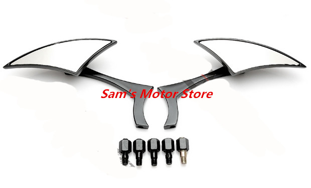 Universale in metallo modificato moto side specchi - Specchi retrovisori per auto ...