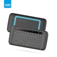 H20 мини беспроводной клавиатура подсветка Сенсорная панель Air мышь ИК опираясь дистанционное управление для Andorid BOX умные телевизоры оконные рамы PK H18 плюс
