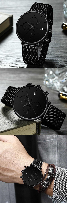 HTB1qUsdVzTpK1RjSZKPq6y3UpXa8 Mens Women StopWatches CRRJU Unique Design Luxury Sport Wrist Watch Stainless Steel Mesh Strap Men's Fashion Casual Date Watches