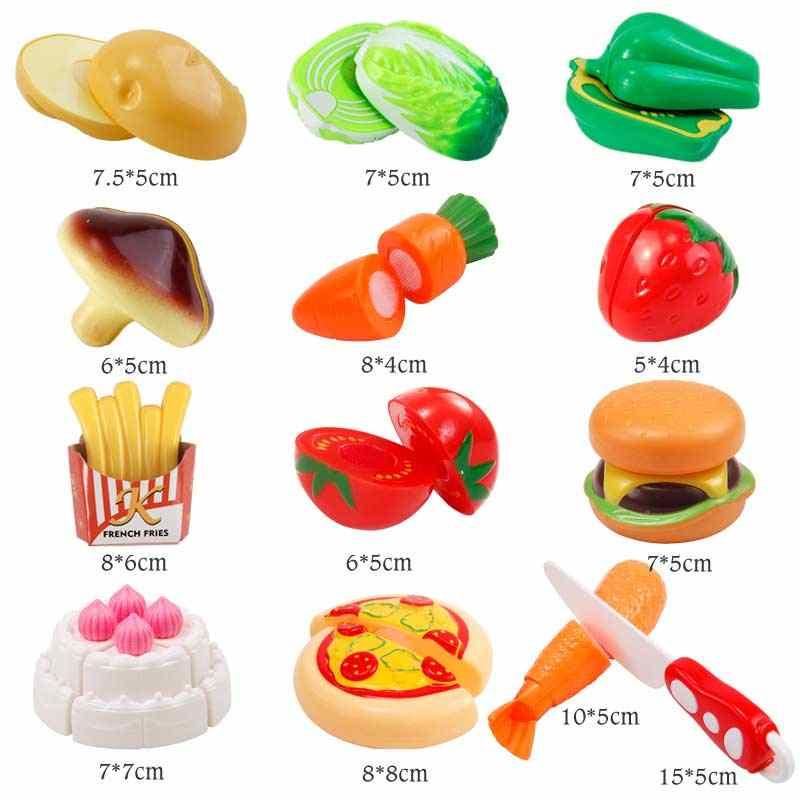 13-30 шт ролевые игры для приготовления пищи, резки торта, овощей, набор еды для детей, ролевые игры, Обучающие кухонные игрушки для детей, BEI JESS