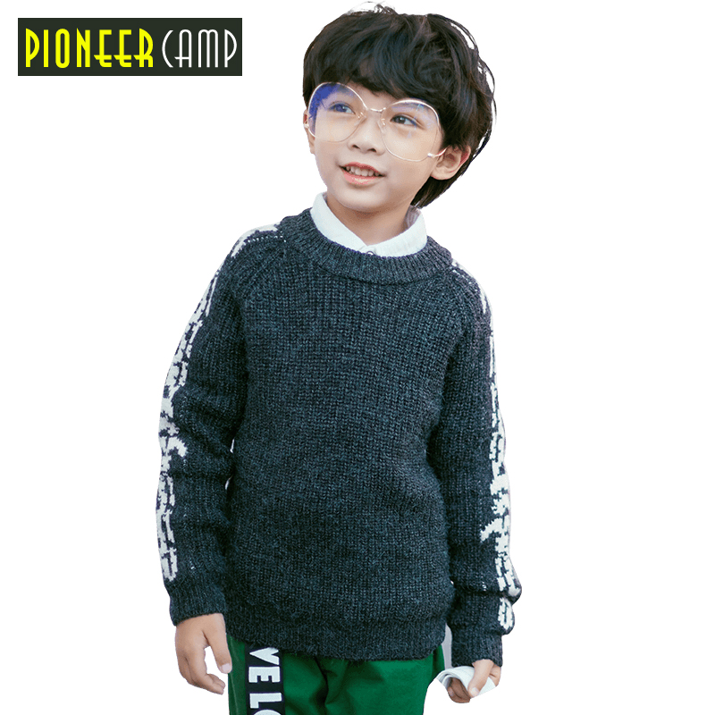 Pioneer Camp Kids Winter Boys Fashion Thick Knitted Sweaters Shirts Solid Boys Sweater Children's Clothing For Sweater цена 2017