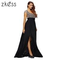 ZKESS Silk Lace Fishtail Maxi Dress Mermaid Long Party Dresses Women Fashion Elegant New Sexy Formal