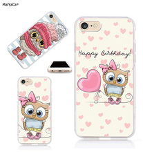 цены на cute pink owl transparent silicone phone case full rubber for iphone 5s se 6 6s 6splus 7 7plus 8 8plus X XR XS MAXy cover case  в интернет-магазинах