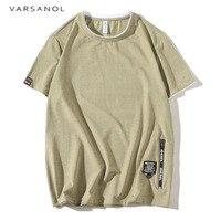 Varsanol 2017 Summer Mens T Shirts Solid Gray Green Khaki Brand Clothing Man S Short Sleeve