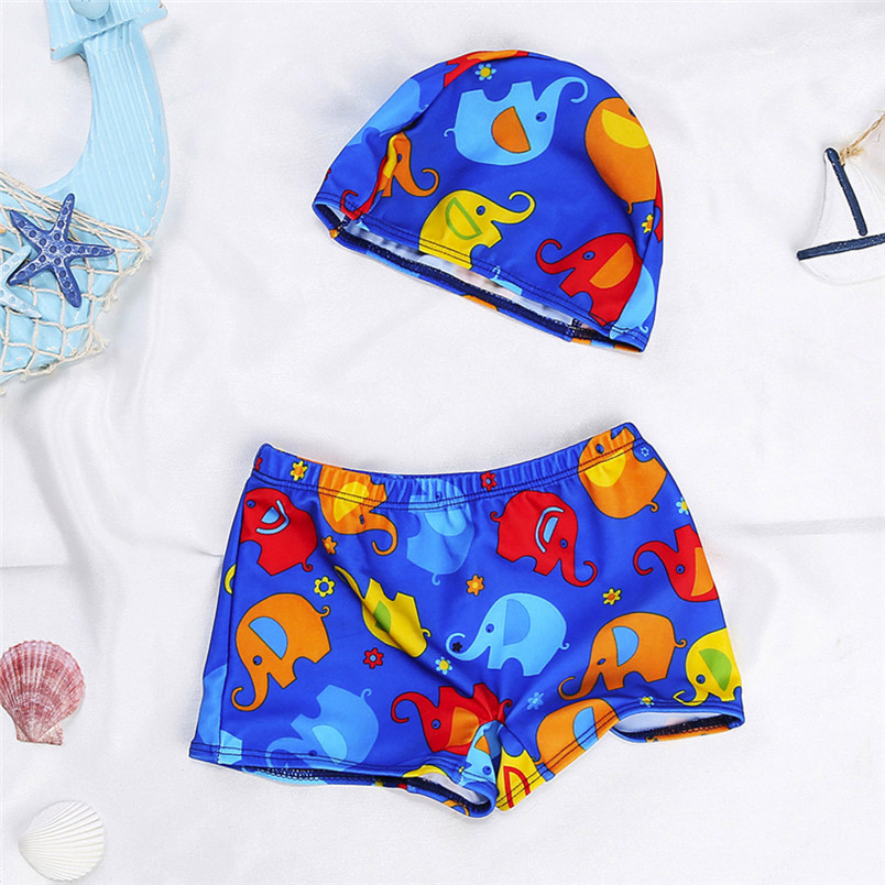 Reliable Fashion Baby Boys Swimming Trunks Cartoon Bathing Trunks Shorts+hat Set Kids Baby Toddler Beach Pants Swimwear 40ja23 Price Remains Stable Home