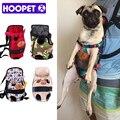 Mochila de perro de viaje de color rojo de moda con soporte para mascotas