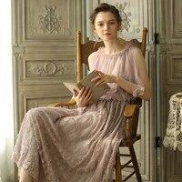 LYNETTE'S CHINOISERIE Summer Original Design Women Vintage Cloak Handmade Beading Mori Girls Light Pink Dresses