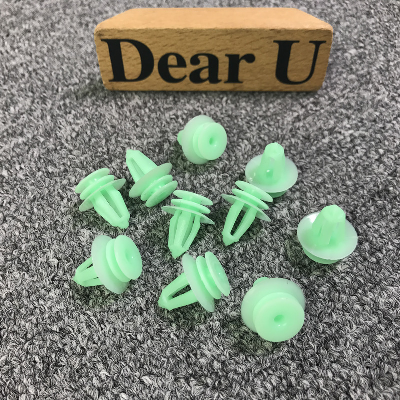New 10pcs Green Door Trim Panel Clips 007-988-99-78 007-988-34-78 For <font><b>Mercedes</b></font> Benz <font><b>W140</b></font> W163 S320 S350 400SE SS420 <font><b>S500</b></font> S600 image