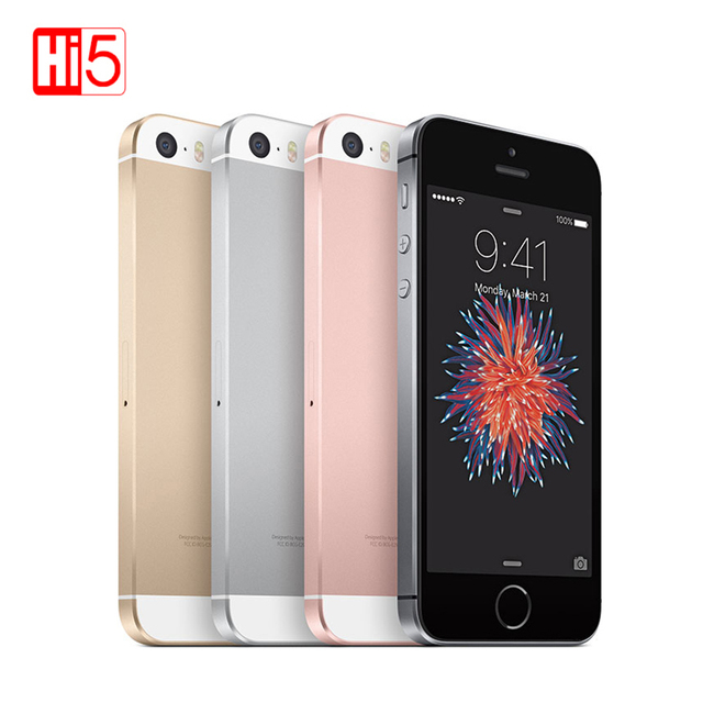 "Original Apple iphone SE Mobile Phone 2GB RAM 64GB ROM 4.0"" Chip A9 iOS 9.3 Dual core LTE Fingerprint Unlocked Used smartphone"