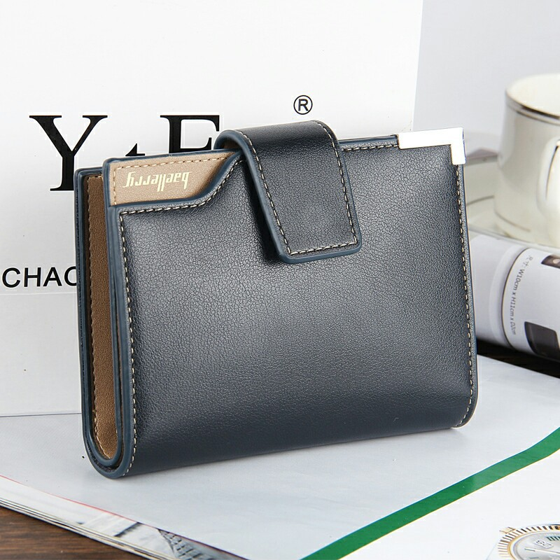 Baellerry Luxury High Quality Male Clutch Men Short Black Wallets PU Leather Photo Card Holder Coin Pocket Purse Men's Money Bag