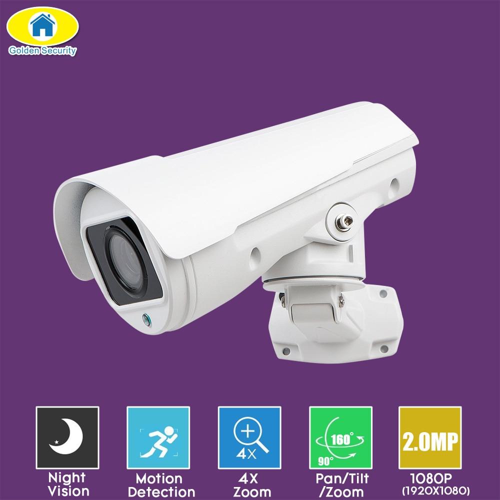 Golden Security 1080P Camera HD IP Mini PTZ Dome Camera 4X Optical Zoom Outdoor Cameras Dome Medium Speed Outdoor Cameras golden media wizard hd в сургуте