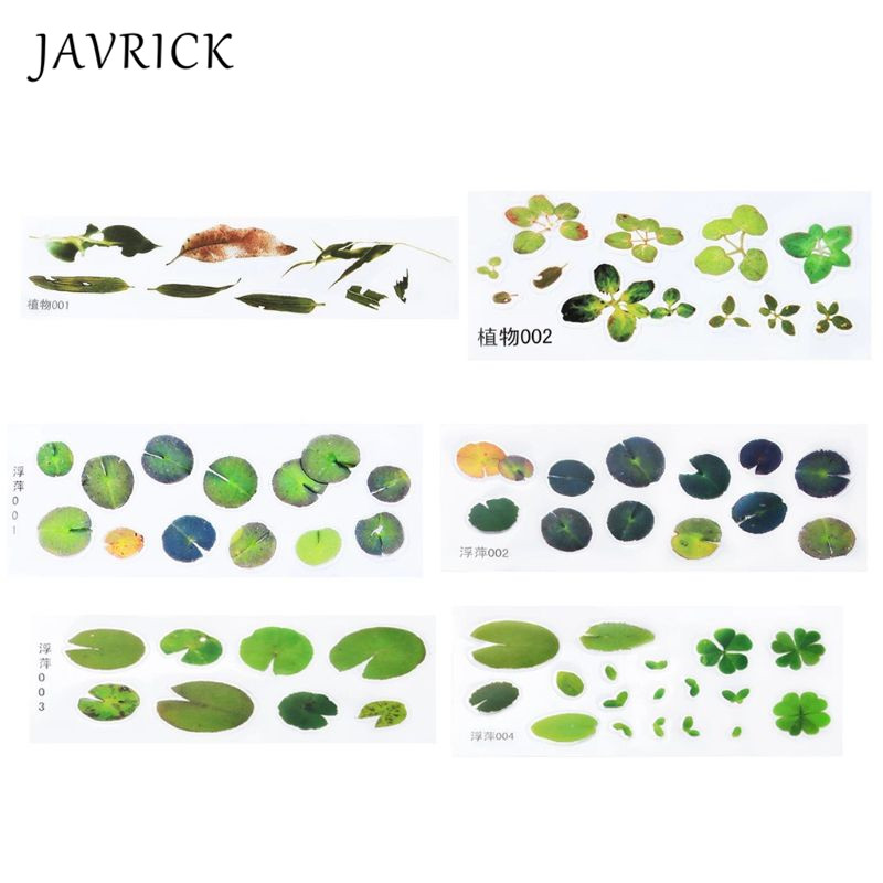 Simulation Fish Leaves Duckweed Stickers Resin Goldfish Painting DIY Crafts For Handmade Painting