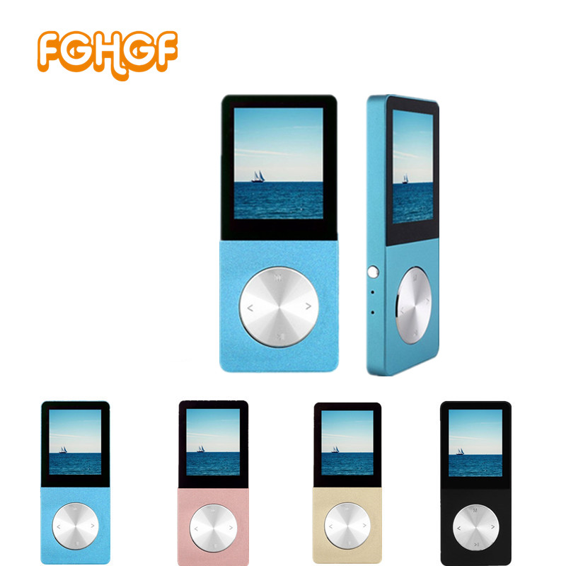 Original T01 lossless HiFi MP3 Music player Touch screen High sound quality metal MP3 E-book FM radio Clock Data support TF card